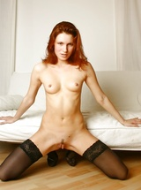 Very sensual & erotic redhead Angelina A modeling