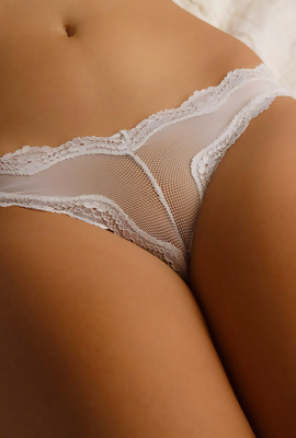 Bea Wolf in white lace panties